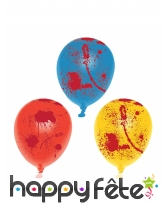 6 Ballons ensanglanté de 25cm