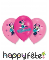 6 Ballons Minnie Mouse