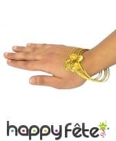 6 Bracelets orientaux avec pièces dorées
