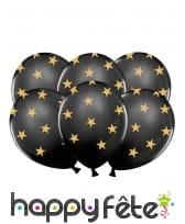 6 Ballons transparents en latex avec étoiles, image 3
