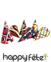 6 Chapeaux cotillons avec motifs colorés, image 2