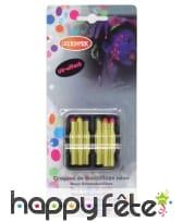 6 crayons gras fluo de maquillage, effet UV, image 1