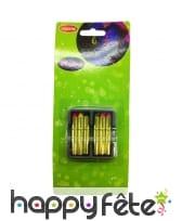6 crayons gras fluo de maquillage, effet UV