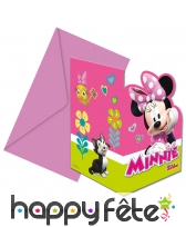 6 Enveloppes et invitations Minnie Mouse