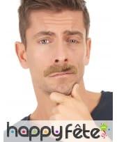 6 moustaches adhésives multi formes et couleurs, image 1