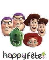 6 Masques des personnages de Toy story