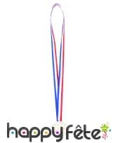 6 médailles gagnant et ruban tricolore francais