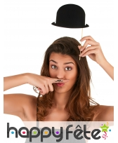 6 photobooth Chapeaux melons noirs, image 2