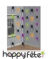 6 suspensions araignées colorées de 210cm