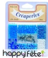 7 cases de perles bleues