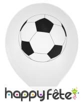 8 Ballons imprimé du dessin d'un ballon de foot