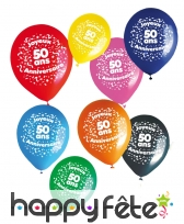 8 ballons joyeux anniversaire et âge imprimé, image 4