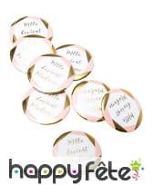 8 Badges Mlle devient madame de 5 cm, evjf