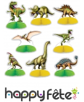 8 centres de table Dinosaures de 16cm