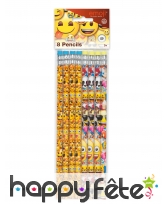8 Crayons émoticones, image 1