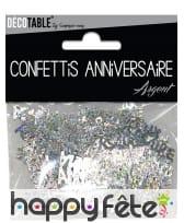 80 confettis Joyeux anniversaire de 5.5 x 1.3 cm, image 1