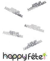 80 confettis Joyeux anniversaire de 5.5 x 1.3 cm, image 2