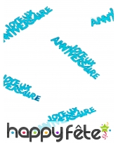 80 confettis Joyeux anniversaire de 5.5 x 1.3 cm, image 3