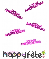 80 confettis Joyeux anniversaire de 5.5 x 1.3 cm, image 5