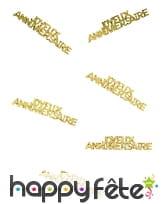 80 confettis Joyeux anniversaire de 5.5 x 1.3 cm, image 7