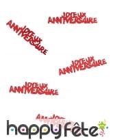 80 confettis Joyeux anniversaire de 5.5 x 1.3 cm, image 8