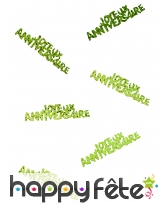 80 confettis Joyeux anniversaire de 5.5 x 1.3 cm, image 9