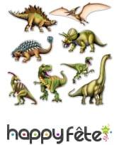 8 Dinosaures en cartons plat de 25 à 48cm