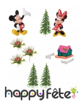 9 figurines Mickey et Minnie pour gâteau