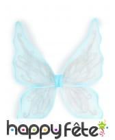 Ailes bleues de papillon argenté pour enfant