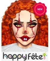 Adhésifs clown de Halloween pour visage, image 1