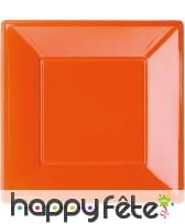 Assiettes carrées en plastique, image 4