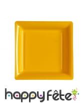 Assiettes carrées en plastique de 23,5cm, image 4