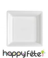 Assiettes carrées en plastique de 23,5cm, image 9