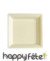 Assiettes carrées en plastique de 23,5cm, image 6