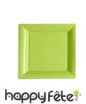 Assiettes carrées en plastique de 23,5cm, image 1