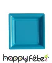 Assiettes carrées en plastique de 23,5cm, image 3