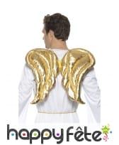 Ailes d'ange dorées et rembourrées