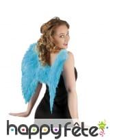 Ailes d'ange turquoises en plumes