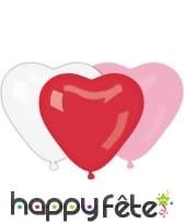 Assortiment de ballons en forme de coeur