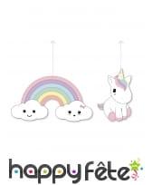 Accessoires déco de bébé licorne pour anniversaire, image 5