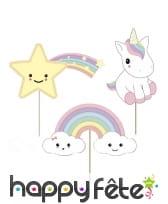 Accessoires déco de bébé licorne pour anniversaire, image 6