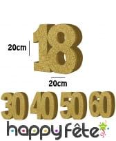 Age doré de 20 cm