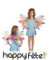 Ailes de fées multicolore fille 38x84cm