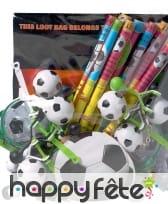 Assortiment de Gadgets sur le thème du football