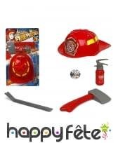 Accessoires de pompier pour enfant, image 2