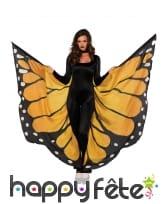 Ailes de papillon géant noir jaune