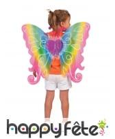 Ailes de papillon multicolore 60x54cm fille