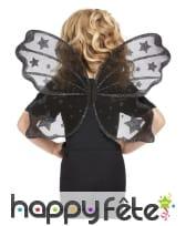 Ailes de papillon transparentes noires