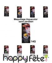 Aquacolor maquillage pour visage sans paraben
