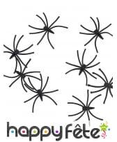 Araignées noires de 2,5cm en plastique, image 1